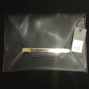 NWT Mossimo black clutch ladies accessories